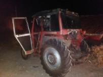 Yangında Traktör İle Ağaç Kesme Makinesi Zarar Gördü