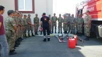 İtfaiye'den Askerlere Yangın Söndürme Eğitimi