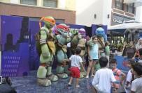 TIRMANMA DUVARI - Ninja Kaplumbağalar Forum Mersin'de Çocuklarla Buluştu