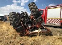 Ağrı'da Traktör Devrildi Açıklaması 1Ölü, 1 Yaralı