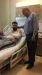 ÇAYDEĞIRMENI - Başkan Semerci, Kazada Yaralanan Madencileri Ziyaret Etti