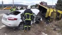 Bolu'da Kamyonla Otomobil Çarpıştı Açıklaması 1 Ölü, 3 Yaralı