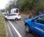 Çaycuma'da Trafik Kazası Açıklaması 2 Yaralı