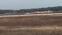 POLİS ARACI - Fransa'da Otomobil Havalimanı Pistine Girdi !