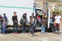 TIBBİ MALZEME - Ayvalık'ta 28 Kaçak Göçmen Yakalandı