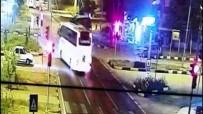 Otobüs Kırmızı Işıkta Bekleyen Kamyona Çarptı Açıklaması 6 Yaralı