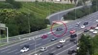 ÇENGELKÖY - (Özel) E-5 Karayolu'nda Motosikletli Gencin Feci Ölümü Kamerada