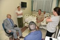 KALP KRİZİ - Vali Köşger, Kalp Krizi Geçiren Başkan Büyükyapıcı'yı Ziyaret Etti