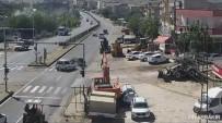 TİCARİ TAKSİ - Diyarbakır'da Trafik Kazaları MOBESE'ye Yansıdı