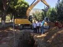 GÜLLÜBAHÇE - Güllübahçe'de Kanalizasyon Çalışmaları Devam Ediyor