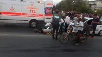İBRAHİM SÖZEN - Manavgat Köprüsünde Motosiklet Kazası Açıklaması 1 Yaralı