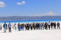 Bakanlık Yetkilileri Salda Gölü'nde İncelemelerde Bulundu