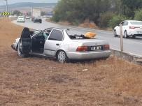 Biçerdöver İle Otomobil Çarpıştı Açıklaması 1 Ölü, 3 Yaralı