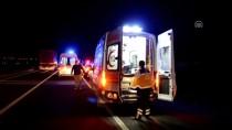 GÜNCELLEME - Polis Refakatindeki Düzensiz Göçmenleri Taşıyan Otobüs Devrildi Açıklaması 41 Yaralı