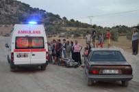 Motosiklet İle Otomobil Çarpıştı Açıklaması 1 Yaralı