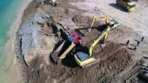 TOPRAK KAYMASI - Trabzon'da Dolgu Alanında Toprak Kayması