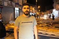 Ağrı'da Fırtına Dükkanların Çatısını Uçurdu Açıklaması 1 Kişi Yaralandı