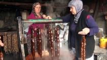 PEKMEZLI - Beypazarı'nda Cevizli Sucuk Yapımı