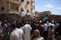 PROTESTO - Halep'ten İdlib'e Türk Bayraklı Destek Protestosu
