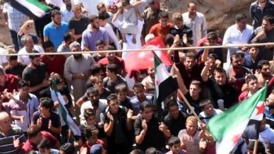 İdlib'de Rejim Karşıtı Gösteri