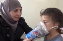 DIŞ MÜDAHALE - İdlibli Anneden Çocuklarına El Yapımı Gaz Maskesi