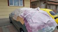 METEOROLOJI - Tosya'da Şiddetli Dolu Ve Sağanak  Yağış Uyarısına Karşı Vatandaşlardan İlginç Tedbir