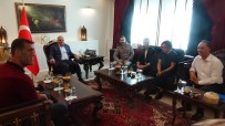 ALİ ERKAZAN - 'Baba 1.5' Filminin Oyuncuları Vali Zorluoğlu'nu Ziyaret Etti
