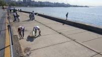 CADDEBOSTAN - Çevre Gönüllüleri, Kıyı Ve Denizlerde Çöp Toplayıp Temizlik Yaptı