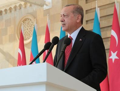 Cumhurbaşkanı Erdoğan'dan Azerbaycan'da önemli mesajlar