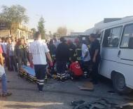 Konya'da Kamyonet İle Servis Minibüsü Çarpıştı Açıklaması 1 Ölü, 8 Yaralı