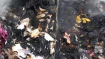 TEKSTİL MALZEMESİ - Otoyolda Park Halindeki Tır Yandı