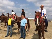 SULTANGAZİ BELEDİYESİ - Anadolu'nun Dört Bir Yanından Gelen Atlı Cirit Sporcuları Hünerlerini Sergiledi