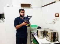 Suriye'deki Mağara Hastanede Gaz Maskeli Tedbir