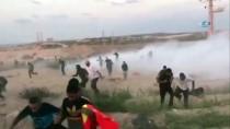 TOPRAK GÜNÜ - İsrail Deniz Ablukasını Kırmak İsteyen 95 Filistinli'yi Yaraladı