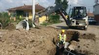 Kanalizasyon Hat Çalışmalarına Devam Ediliyor