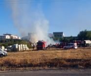 Malatya'da Boş Arazideki Tahtalar Yandı