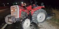 Parasını Alamadığı Traktörünü Kazada Hurdaya Dönmüş Halde Buldu