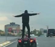 KADıOĞLU - ATV Sürücüsünün Tehlikeli Şovu Kamerada