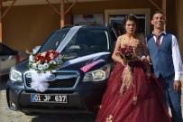 GELİN ARABASI - Belediye Başkanının Makam Aracı Engelli Çiftin Gelin Arabası Oldu