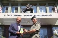 TUGAY KOMUTANI - GAGİAD Yönetim Kurulu Tuğgeneral 5. Zırhlı Tugay Komutanı Şefik Atak'ı Ziyaret Etti