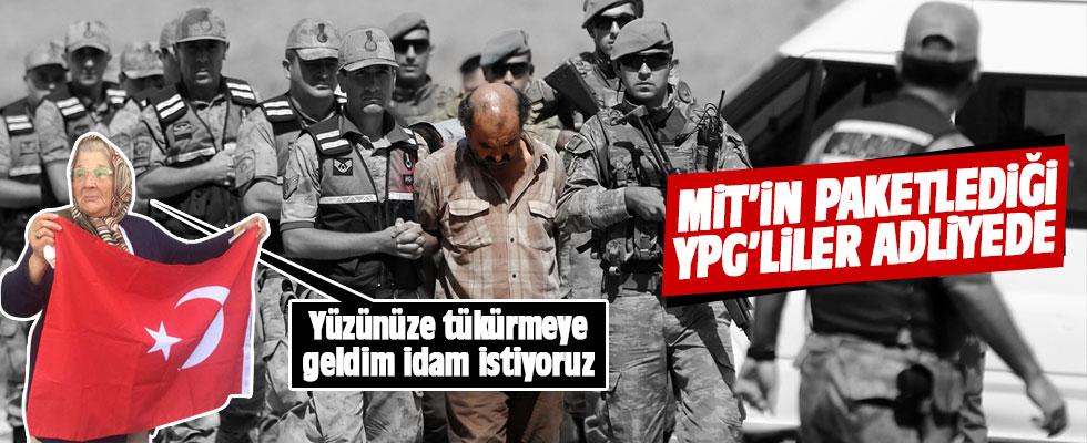 PKK'lı teröristleri adliyede karşıladı: Yüzünüze tükürmeye geldim