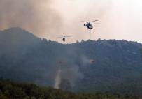 Kumluca'daki Yangında Soğutma Çalışmaları Devam Ediyor