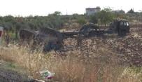 DİREKSİYON - Tank Taşıyan Tır Tarlaya Uçtu Açıklaması 1 Yaralı