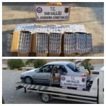 SİGARA KAÇAKÇILIĞI - 'Dur' İhtarına Uymayan Otomobilden 6 Bin Paket Kaçak Sigara Çıktı