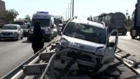 İstanbul'da TEM Trafiğini Kilitleyen Kaza Açıklaması 4 Yaralı