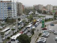 TOPLU TAŞIMA - Okullar Açıldı Aydın'da Trafik Kilitlendi