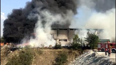 Denizli'de depoda büyük yangın