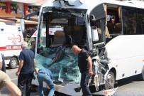 Kampa Giden Öğrencilerin Bulunduğu Midibüs Tıra Çarptı Açıklaması 7 Yaralı