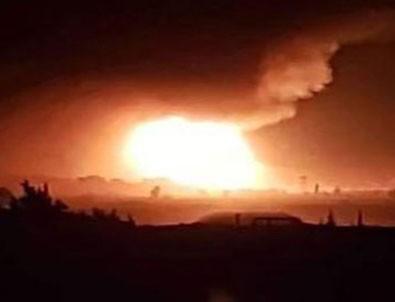 Suriye'de El Mazze hava üssünde patlama
