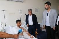 30 AĞUSTOS ZAFER BAYRAMı - Uğur Işılak Ve Başkan Tahmazoğlu, Kazada Yaralananları Ziyaret Etti